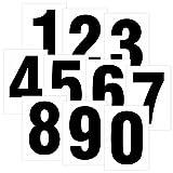 Set mit Zahlen 0 bis 9 Schwarz auf weiß 80 x 55mm Wetterfest als Aufkleber Regalbeschriftung Klebebuchstaben