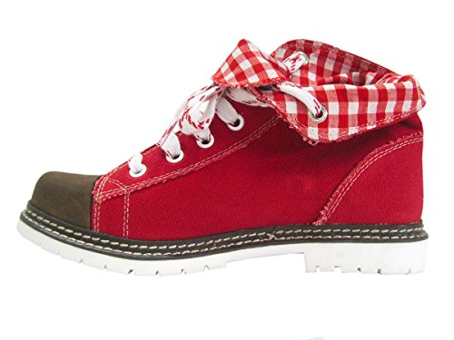 Canvas Stiefel Jacky rot braun rot Vintage Rot