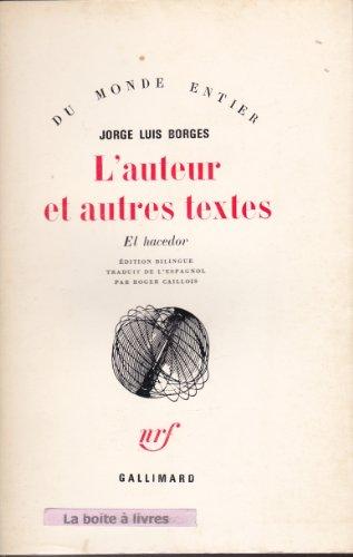L'Auteur et autres textes