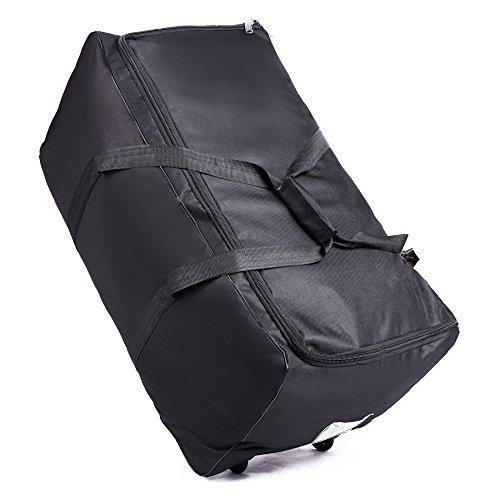 OOSAKU Große Spaziergänger-Reise-Duffel Bag Faltbare rollende fahrbare Holdall-Gepäck-Taschen für Kinderwagen-Auto Seat Gate Check (Stil A) -