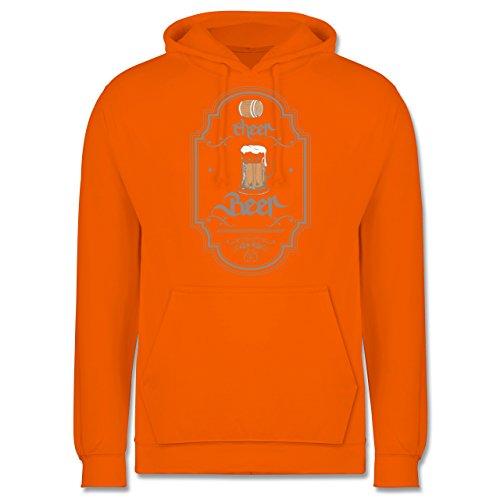 Statement Shirts - Cheer Beer - Männer Premium Kapuzenpullover / Hoodie Orange