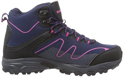 KangaROOS K-outdoor Soft 8091, Chaussures de randonnée mixte adulte Bleu - Blau (dk navy/magenta 464)