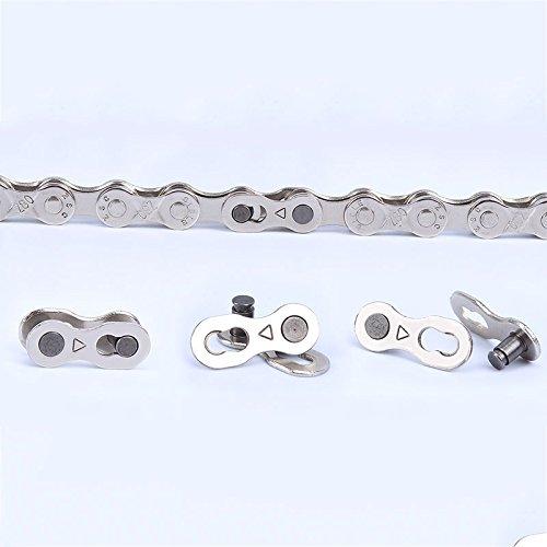 Forfar Wiederverwendbare Fahrrad-Kettenverschluss Link Joint Speed-Reparatur-Teil Silber 9 Geschwindigkeiten Ketten Nützliche NEU (9 Speed-link)