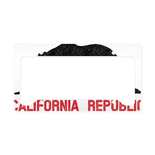 CafePress-Kalifornien Republik Grunge werden-- aluminium Nummernschild Rahmen, Lizenz Tag Halter -