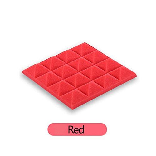 kxnet 3D Wand Hintergrund Aufkleber, modernes Schaumstoff Tapete Platten Sound Stop Absorption Art Decor Aufkleber für Schlafzimmer Studio KTV schaldicht, rot - Effekte-pinsel