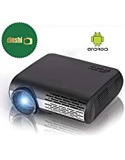 Dinshi Maxx+ Android 6.0/ WiFi 4200 Lumens Full HD LED Projector 1080P Support HDMI USB VGA AV