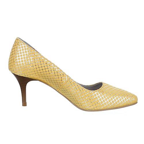 Damen Schuhe, 5453, PUMPS LEDER HIGH HEELS Gelb