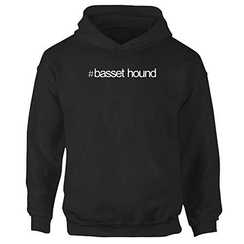 Idakoos Hashtag Basset Hound - Hunde - Mädchen Hoodie (Sweatshirt Kinder Hound)