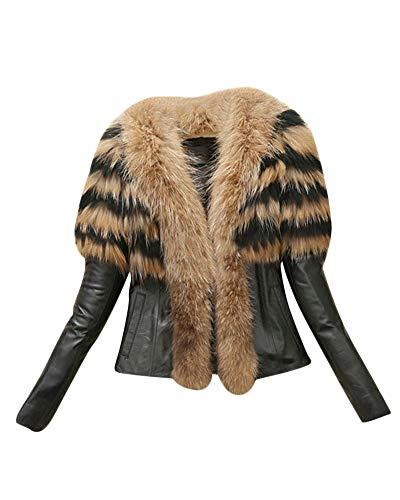Donna casuale corto pu pelle maniche lunghe giacca corto cappotto