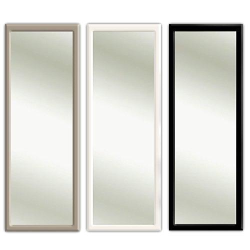 Türspiegel Tür Spiegel Hängespiegel Rahmenspiegel 35x95cm schwarz weiss (grau)