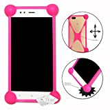 Shockproof Silicone Bumper Case for Medion Life P5005 Pink