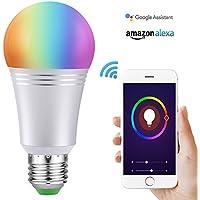 Ampoule Wi-Fi Smart Bulb Dimmable LED Light 60 W Ampoule équivalent 650 lm, télécommande avec Smart Device et contrôle vocal de Amazon Alexa et Google Home aucun Hub demandé (Cool Daylight White 7 W 6000 K E27)