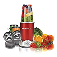 NutriBullet 12-Piece High-Speed Blender/Mixer System, 600 watts, Red