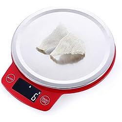 Balance Cuisine Electronique Balances de cuisine numérique, balances de cuisine alimentaire avec bol amovible, fonction Tarer, écran LCD, rangement facile (Size : 5kg/1g)