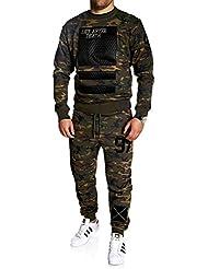 MT Styles ensemble pantalon de sport+sweat-Shirt jogging survêtement - MA-2100
