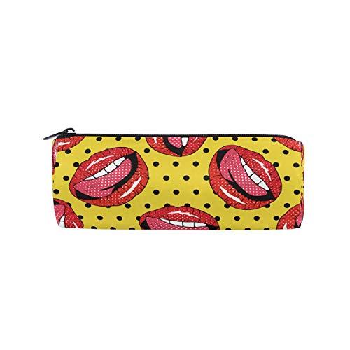 bonipe Sexy Rot Lip Pencil Tasche Schule Stationery Pen Box Reißverschluss Kosmetik Make-up-Tasche