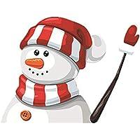 Navidad del limpiador del coche etiqueta engomada linda de Santa Claus saludando Limpiaparabrisas creativas limpiaparabrisas Stickerfor Coches Decoración de Navidad estilo 2