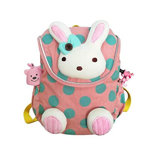 Kinder, Schultasche Pink Hase für Kleinkinder von 1 Jahrige und Mehr, Kinderrucksack Pink mit Sicherheitsleinen, Lassing Kinderrucksack Kindergarten/Schultasche Rucksack Madchen ()