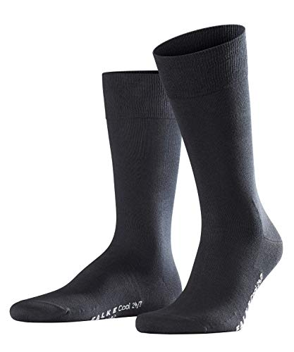 FALKE Herren Cool 24/7 Business Socken, Blickdicht, Black, 41-42