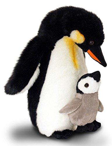 Lashuma Plüschtier Keel Toys Animale di Peluche Pinguino imperatore con Bambino, Animale da Coccole di 30 cm Circa Insieme al Burro per Il Corpo, 7ml