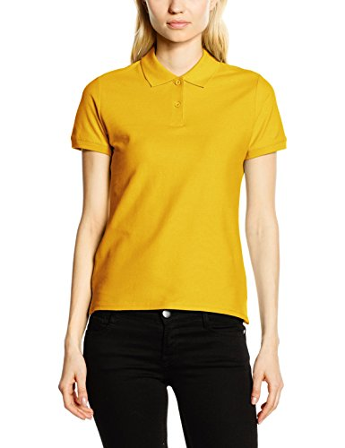 Fruit of the Loom Damen Poloshirt Ss078m Gelb - Yellow (Sunflower Yellow)