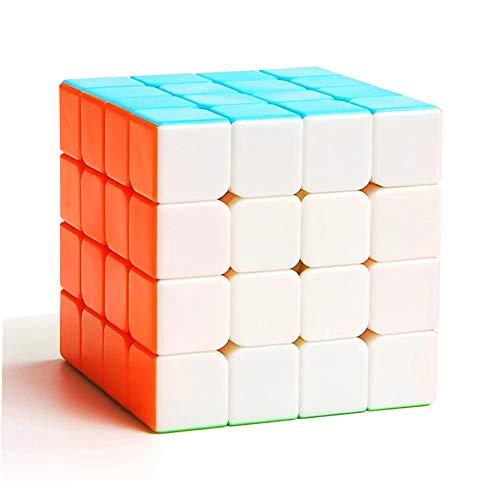 TOYESS Zauberwürfel Stickerless 4x4, Speed Cube 4x4 Puzzle Würfel Spielzeug -