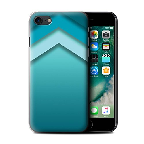 Stuff4 Hülle / Case für Apple iPhone 7 Plus / Martini-Glas/Alkohol Muster / Teal Mode Kollektion Zickzack Kunst