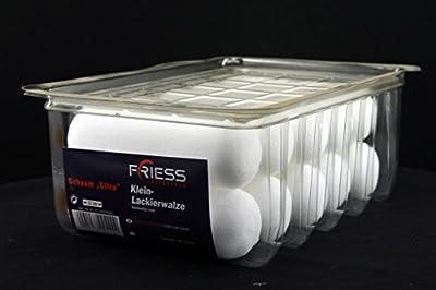 10 Stück Friess Schaum Ultra Heizkörperrollen 11cm beidseitig rund für professionelle Lackierungen mit wasser- und lösemittelhaltigen Lacken
