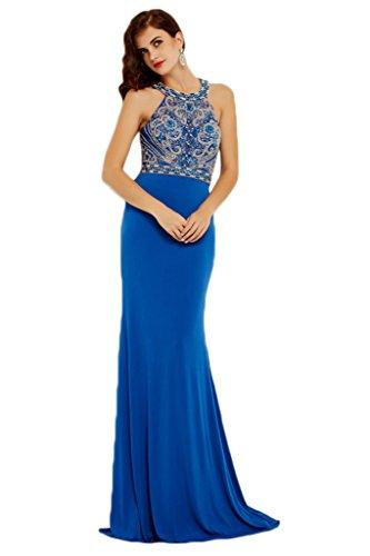 ivyd ressing alta qualità sulla situazione Party Festa Prom abito ball vestito da sera vestito da donna Blau