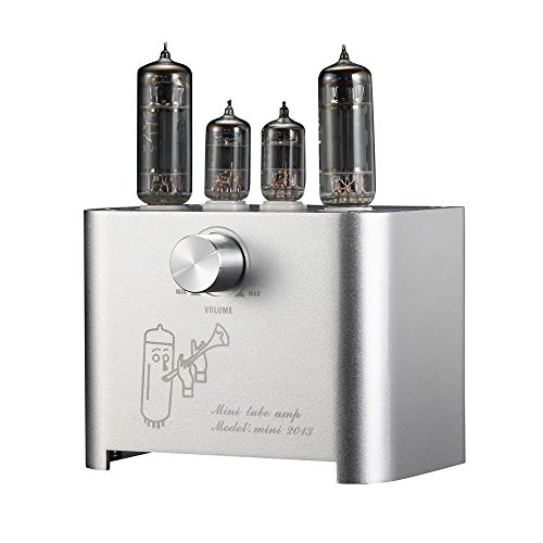 Nobsound APPJ Mini Valve Tube Amplifier Stereo HiFi Desktop Power Amp 3W+3W Röhrenverstärker (Silver)