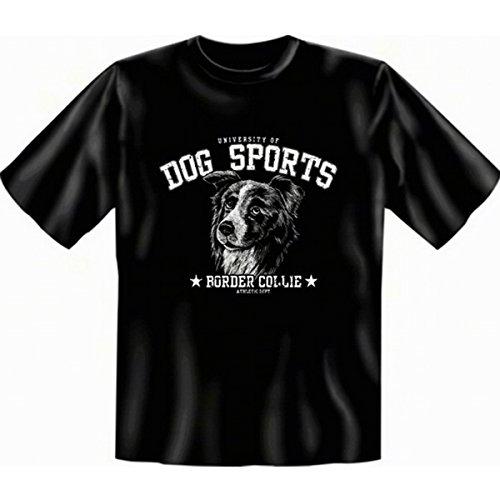 Border Collie T-Shirt Rassehunde Gr XXL in schwarz