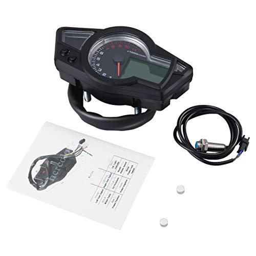 sunborui Contachilometri digitale LCD Tachimetro digitale moto Universale motociclo contachilometri