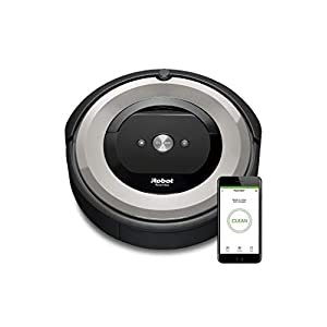 iRobot Roomba e5154 Robot Vacuum Cleaner, Great for Pets, Rubber Brushes, Picks up Hair without Getting Tangled from Carpets and Hard Floors, 5X Suction