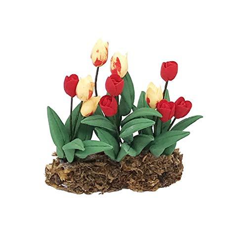 Myfilma ◔◡◔ 1:12 mini puppenhaus puppenhaus dekoration wandbehang blume hütte szene schießen prop miniatur garten -