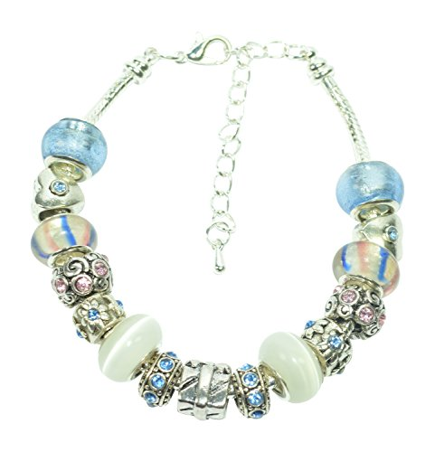 Handmade Beautiful Light Blue ' Gift Box ' Bracelet with Gift Box by Libby's Market Place