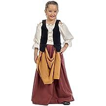 Limit Sport - Campesina Medieval, disfraz infantil, talla 6 (MI095 6)