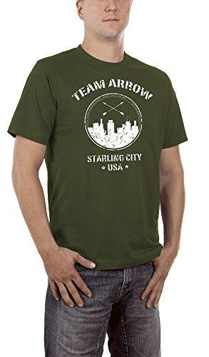 Touchlines Herren T-Shirt Team Arrow, Grün (Khaki 06), Medium - Arrow Khaki