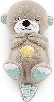Fisher-Price FXC66 - Soothe 'n Snuggle Otter, Speldosa i plysch med Sensorer som Stimulerar Barnets Syn, H