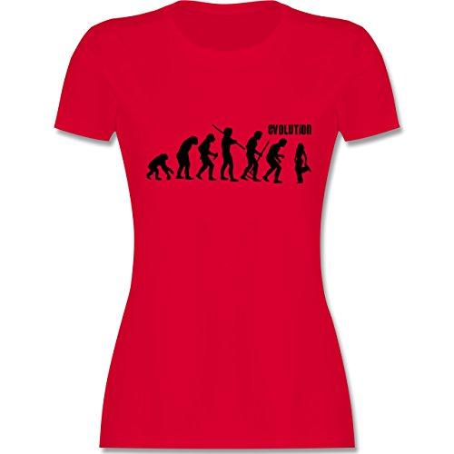 Evolution - Hip Hop Evolution - tailliertes Premium T-Shirt mit Rundhalsausschnitt für Damen Rot