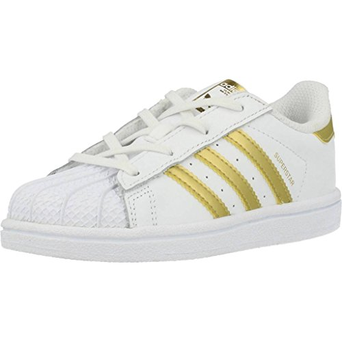 Zapatillas adidas - Superstar I blanco/dorado/dorado talla: 20