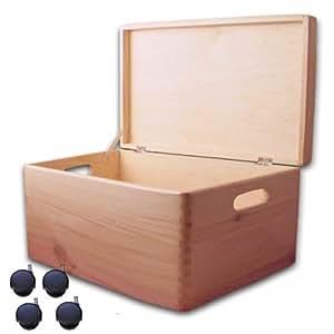 aufbewahrungsbox holzkiste mit deckel und griffl chern. Black Bedroom Furniture Sets. Home Design Ideas