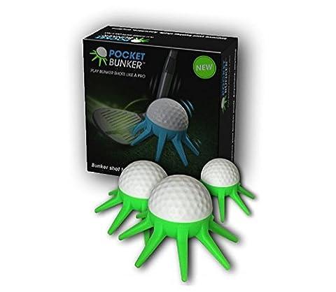 Pocket Bunker Golf-Schwungtrainer, um schneller aus dem Sandbunker bzw. auf das Green zu treffen, Profi-Trainingshilfe zur Perfektion des kurzen Spiels, 3 Stück