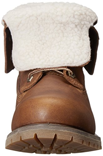 Timberland Auth Teddy Fleece Wp, Boots femme Tobacco Forty Leather