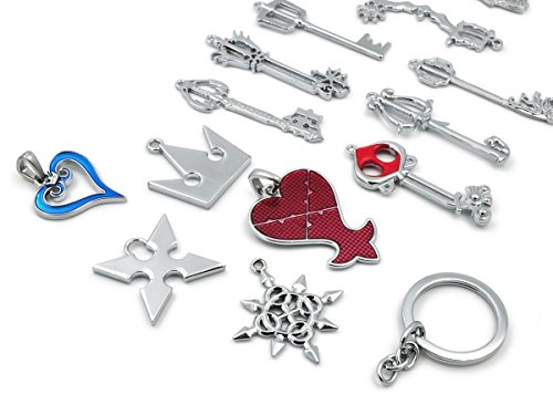 Hearts Kingdom Kind Kostüm - Kingdom Hearts, Birth by Sleep Sammelbox mit 13 Schmuck Anhängern