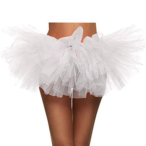 Tanz Kostüm Dalmatiner - KPPONG Damen Tüllrock Retro Rockabilly Petticoat Ballettrock Ballett Tanzkleid Ballkleid Abendkleid Unterrock