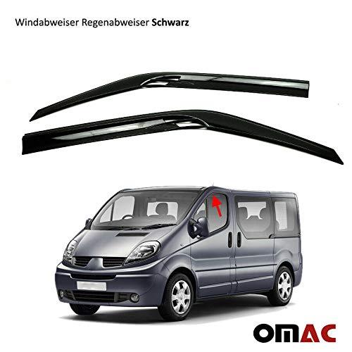 OMAC GmbH Windabweiser Regenabweiser für Vivaro Trafic II Schwarz