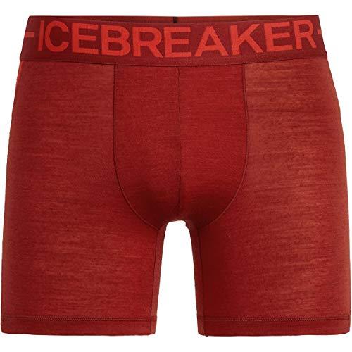 Icebreaker Herren Anatomica Zone Boxers Funktionsunterwäsche, Rot (Sienna/Chili Red), M