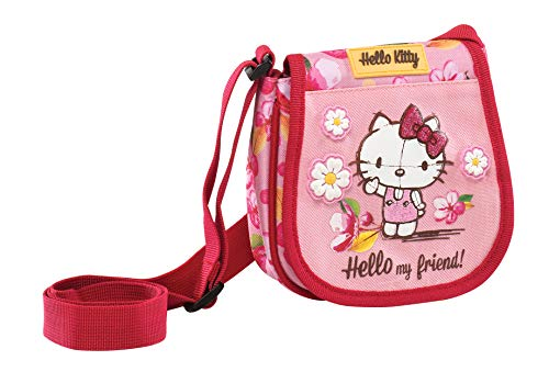 Graffiti Hello Kitty Umhängetasche, 15 cm, Pink (Hello Für Kitty Tasche Kinder)