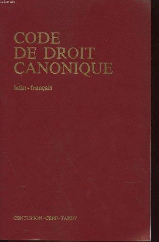 Code de droit canonique latin-francais