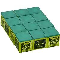 Triangle - Tiza para billar (12 unidades sueltas), color verde